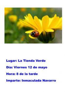 Charla sobre Ecología: La vida en nuestros huertos y jardines @ La Tienda Verde