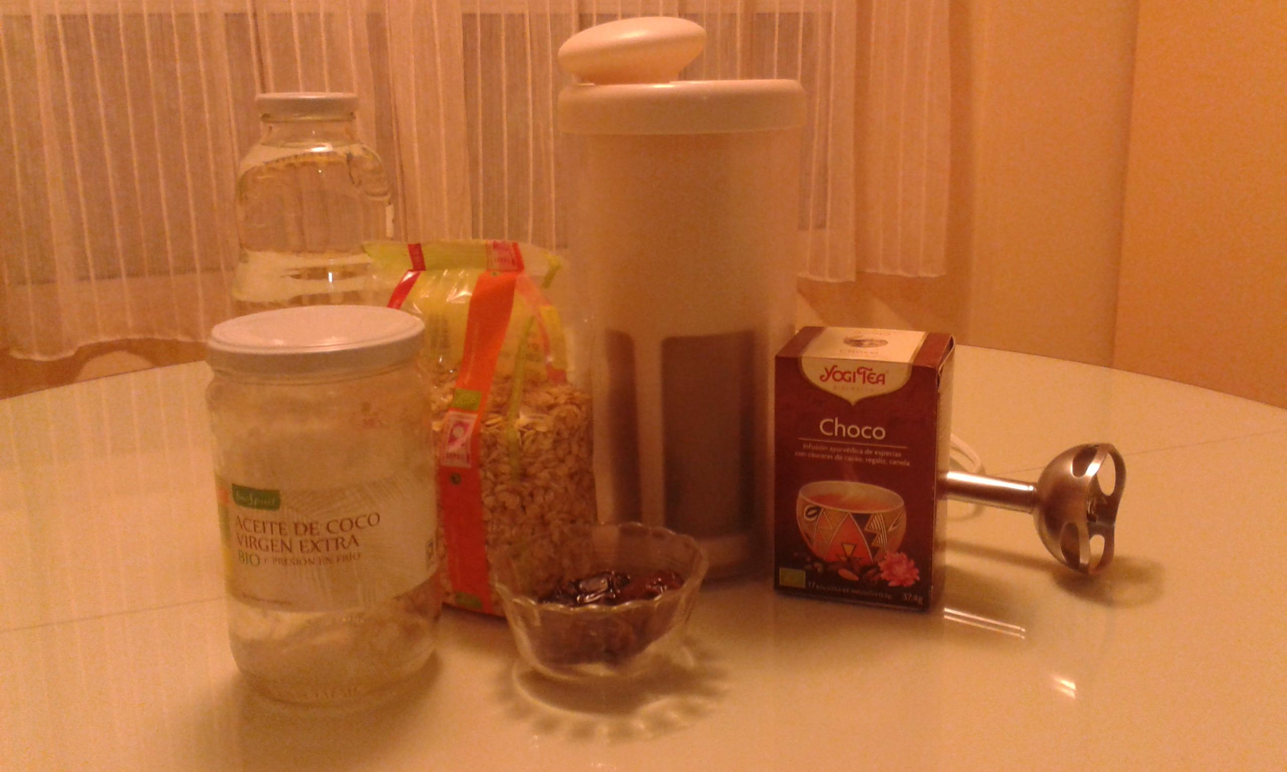 Bebida de avena con especias